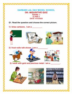 Interactive worksheet General Knowledge Quiz