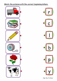 Interactive worksheet THE BEGINNING LETTER