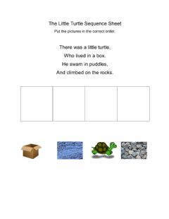 Interactive worksheet The Little Turtle