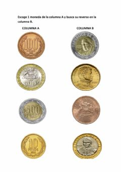 Interactive worksheet Monedas chilenas