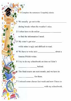 Interactive worksheet U 3 b vocab repetytorium