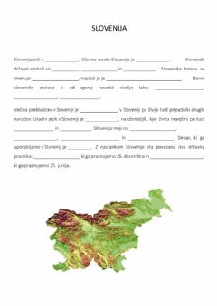 Interactive worksheet Slovenija