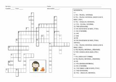 Interactive worksheet Subject Pronouns Crossword Puzzle
