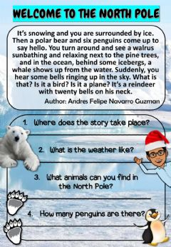 Interactive worksheet ''Welcome to The North Pole'' - Reading Comprehension