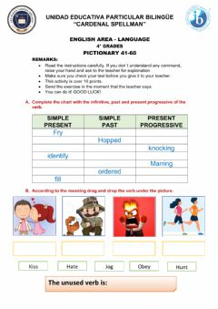 Interactive worksheet Pictionary 41-60