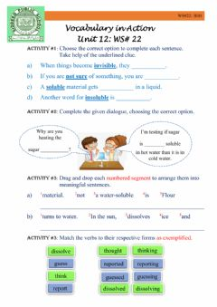 Interactive worksheet Vocabulary in Action
