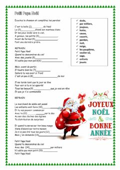Interactive worksheet Petit Papa Noel
