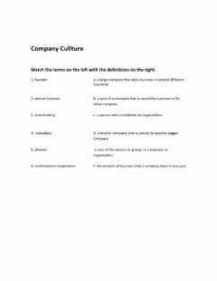Interactive worksheet Company culture: types of companies