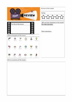 Interactive worksheet Movie review