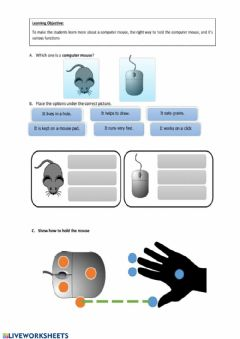 Interactive worksheet The Mouse
