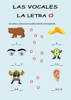 Interactive worksheet Las vocales - la o