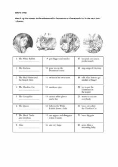 Interactive worksheet Who's Who