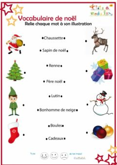 Interactive worksheet Noël