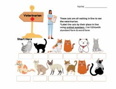 Ficha interactiva Cat Ordinal numbers
