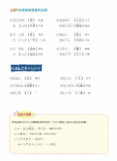 Interactive worksheet 50音(促音ー比較)