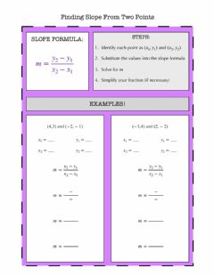 Ficha interactiva Finding Slope From Two Points Notes
