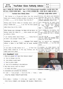 Interactive worksheet YouTuber Gives Fatherly Advice