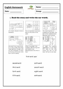Interactive worksheet Lesson 53 - ear sound