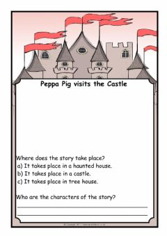 Interactive worksheet Peppa Pig- The Castle