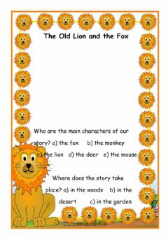Ficha interactiva The old lion an the fox