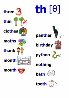Interactive worksheet Th words