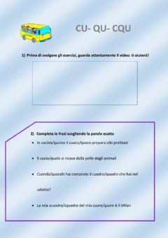 Interactive worksheet Esercizi CU, QU, CQU