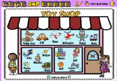 Interactive worksheet Toys Shop (Audio Dictionary)