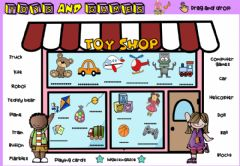 Interactive worksheet Toy Shop (Drag and drop)