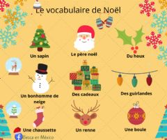 Interactive worksheet Le vocabulaire de Noël