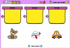 Interactive worksheet Toy Box (Listen and drag)