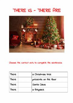 Interactive worksheet There is-there are - Christmas time