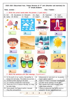 Interactive worksheet 6.4.Weather and Emotions Quiz-1