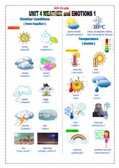 Ficha interactiva 6.4.Weather and Emotions-1