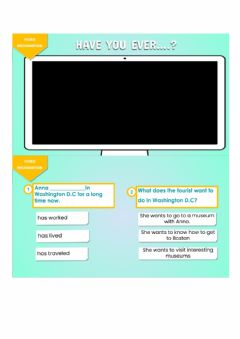 Interactive worksheet HAVE YOU EVER ....? - Video recognition