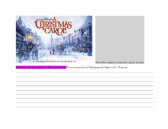 Interactive worksheet A Christmas Carol - what does it teach?