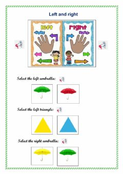 Interactive worksheet Left and right