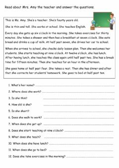 Interactive worksheet Reading Practise-1