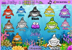 Interactive worksheet Jelly and Sharks (Colors)