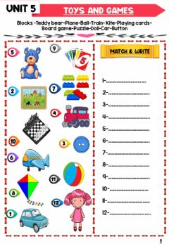 Interactive worksheet Toys Worksheet