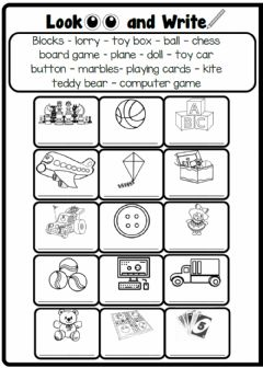 Interactive worksheet 3.5. Toys & Games
