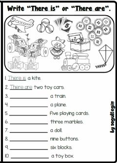 Interactive worksheet 3.5. Toys & Games - There is- There are