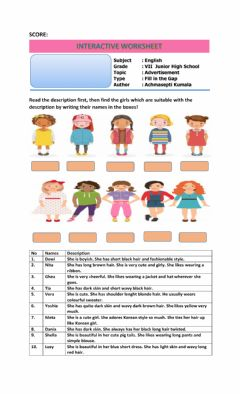 Interactive worksheet Describing People's appearance