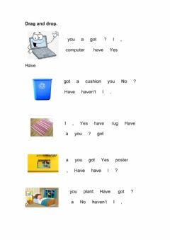 Interactive worksheet Have you got? questions