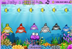 Interactive worksheet Jelly and Sharks (Listen and match)