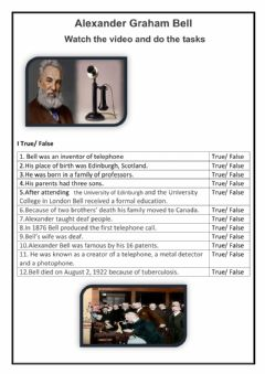 Interactive worksheet Alexander Graham Bell