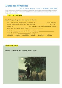Interactive worksheet Arte  del Novecento