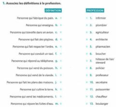 Interactive worksheet Les professions - 3