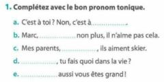 Interactive worksheet Les pronoms toniques - 2