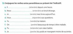 Interactive worksheet Les verbes en --dre-