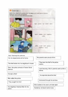 Interactive worksheet Step Up